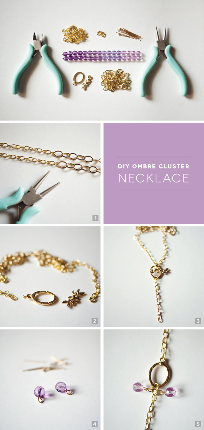 Ombre Cluster Necklace Tutorial