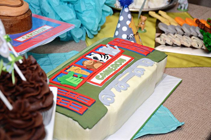 Party Animal Streetcar Cake