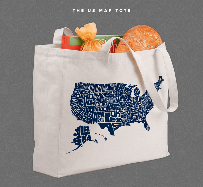 Stately Type – Hand-lettered US Map Prints & T-shirts