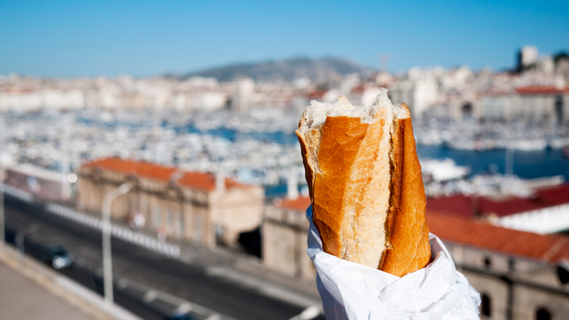 Eating a Baguette in France