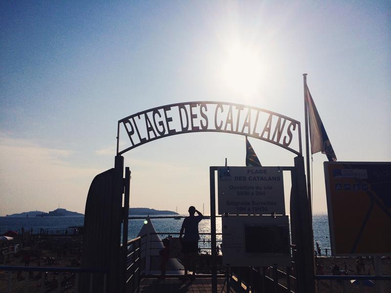 Marseille France Plage Des Catalans Sun Sign