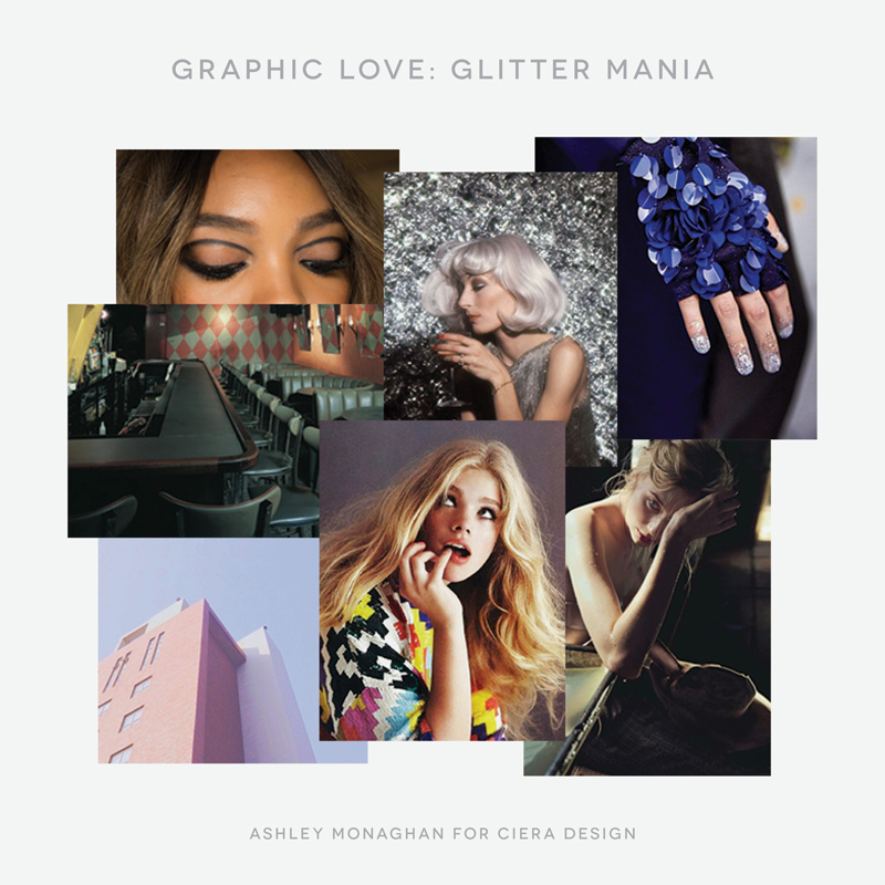 Graphic and Glitter Inspired Mood Board