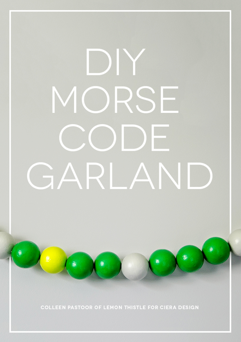 DIY Morse Code Garland On Wall