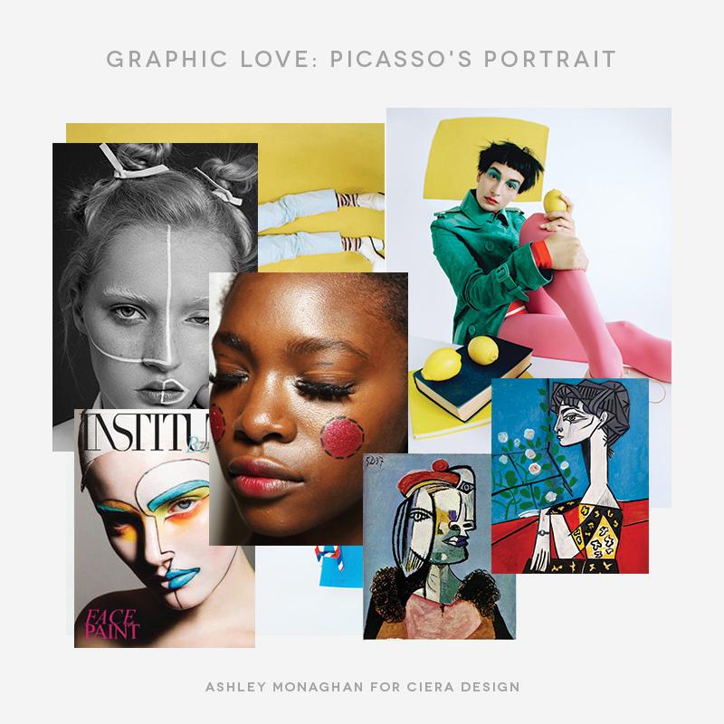 Picasso's Portrait Inspiration Moodboard