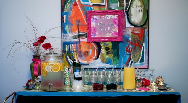 Bridal Shower Mimosa Bar