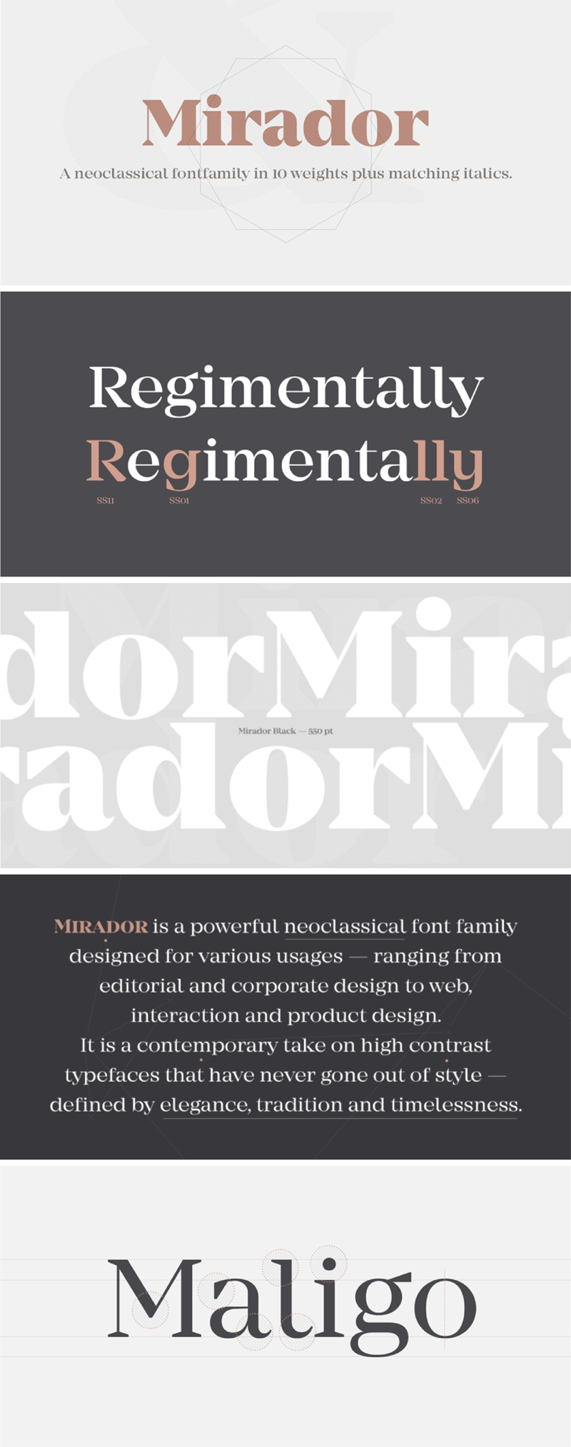 Mirador neoclassical font family
