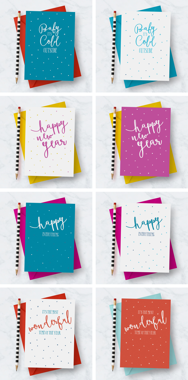 Christmas, Holiday & New Year Greeting Card Designs