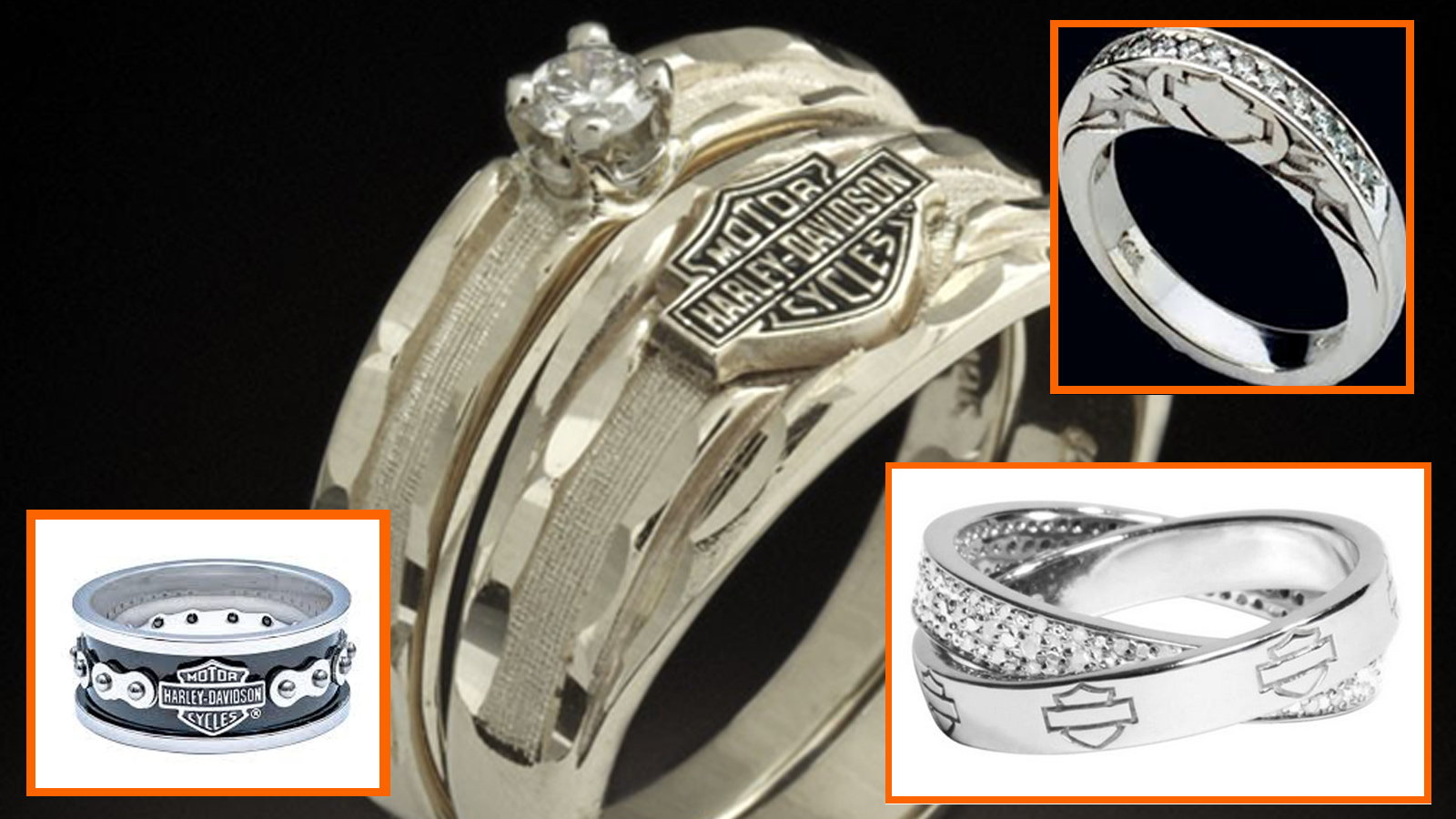 11 things you need for a harley davidson themed wedding harley davidson wedding bands Wedding rings are something personal for a couple If Harley Davidson is what brought you two together why not remember it forever by wearing it on your