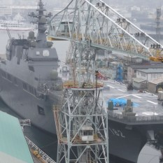The Izumo's cousin, Ise, in its homeport of Kure in March 2013. Source: Personal collection of the author