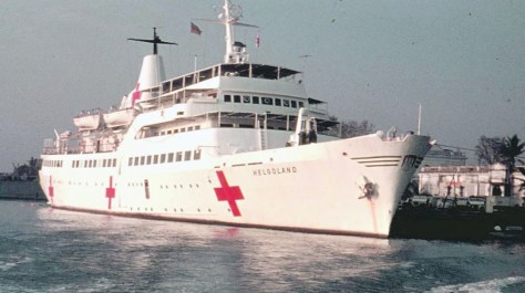 The last dedicated German hospital ship was the MS Helgoland, which saw extensive action in Saigon (South Vietnam) between 1966 and 1972. The ship was operated by the German Red Cross.