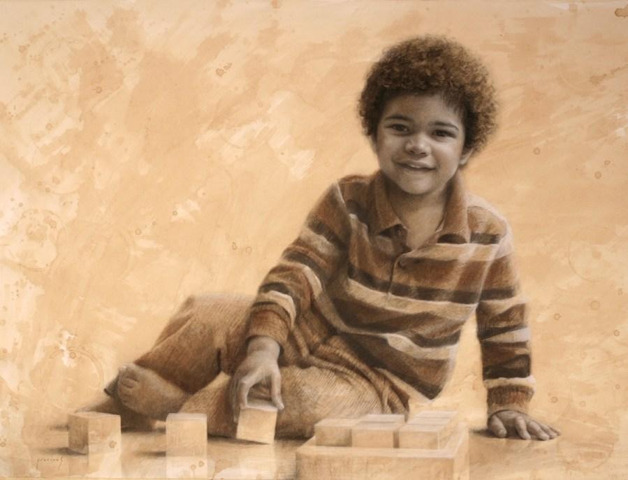 "Portrait of Finn • Charcoal 24"" x 36"""