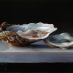 "On the Halfshell III • 5 x 7"" oil on panel"
