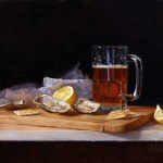 "New England Happy Hour • 16 x 20"" oil on linen"