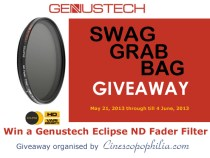 Swag Grab Bag Genustech Eclipse ND Fader Filter Giveaway:
