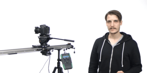 Slidekamera HKN-2 Motion Control on a HSK-5 Heavy Duty Video Slider