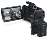 Blackmagic URSA Camera Powered Via the IDX V-Mount Battery Adaptor Plate ET-PV2UR