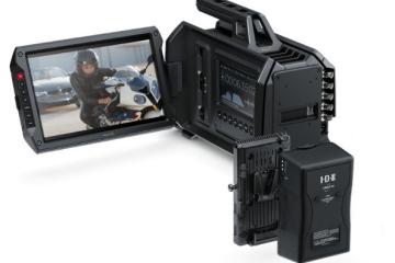 Blackmagic URSA Camera Powered Via the IDX V-Mount Battery Adaptor Plate