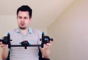 Flycam Planet camera steady rig – 1 Axis Gimbal from DVCity