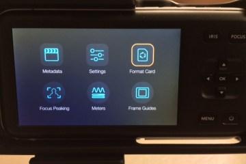 Format SD Card Internally BMPCC