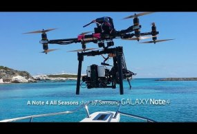 4K Phone Drone… A Note 4 All Seasons with Drone in 4K from Samsung Mobile