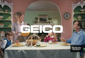 Funny Ad and Funny Behind the Scenes – GEICO Unskippable Family