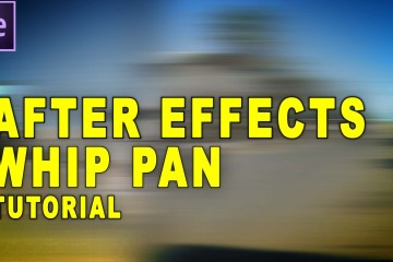 How to do Whip Pan with After Effects Tutorial by TunnelvizionTV