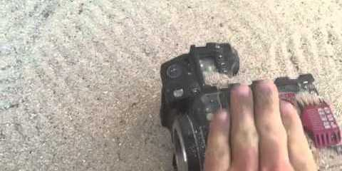 How To Clean a RED EPIC Camera by Immersing It In Tap Water & Rubbing Sand On It