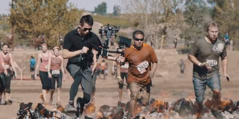 AllSteady Motion 3-Axis Gimbal, Jockey 4-Axis Stabilizer and Matrix X8 BTS at Rugged Maniac 2015