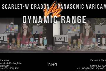 RED Scarlet-W Dragon Vs Panasonic VariCam LT… FULL Dynamic Range Test