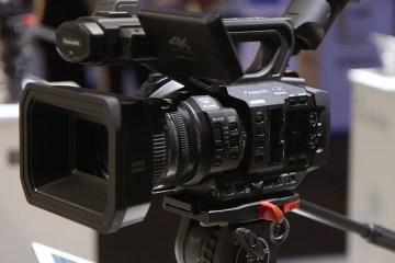 Panasonic AG-UX180 and AG-UX90 4K Camcorders at IBC