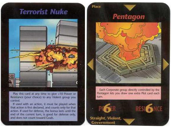 las predicciones del juego de cartas de 1990 nuevo orden