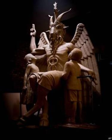 La estatua del diablo en Detroit
