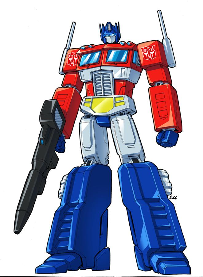 Personajes de los transformers de la caricatura original - Dessin optimus prime ...