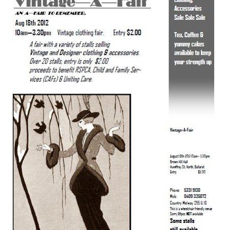 Ballarat vintage fair 2012