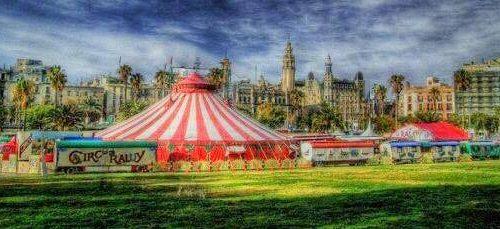 Pintura del Circo Raluy en Barcelona 2