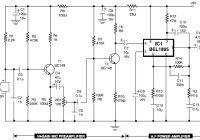 Mic condenser amplifier circuit diagram