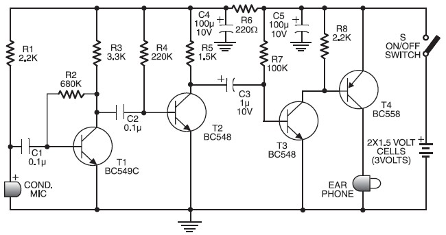 cheap hearing aid circuit electronic