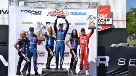 Ed Jones wins the opening race of Indy Lights at St Petersburg