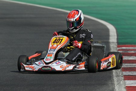 Piers in action at the Dubai Kartdrome last season