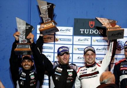 Abu Dhabi Proton Racing: Khaled Al Qubaisi, Christian Ried, Earl Bamber (l-r)