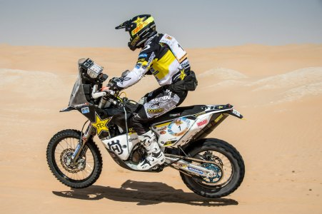 Pablo Quintanilla led early in the stage and now holds second overall in the Abu Dhabi Desert Challenge