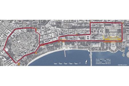 Provionsal Track Layout 2016 Baku European Grand Prix