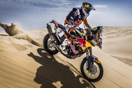 Sam Sunderland on a charge on his factory KTM
