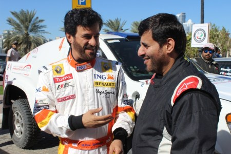 Mohammed Ben Sulayem and Sheikh Abdullah Al Qassimi