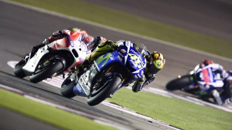 Rossi takes charge in Qatar to win the opening race of the season