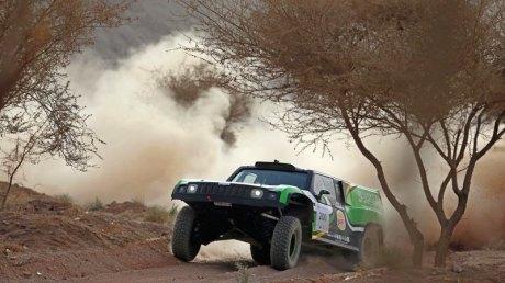 Saudi Arabian driver Yazeed Al-Rajhi and his German navigator Timo Gottschalk Ha'il Nissan International Rally