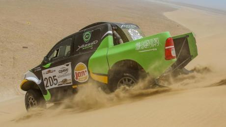 Yazeed Al-Rajhi in action at the recent Sealine Rally in Qatar.