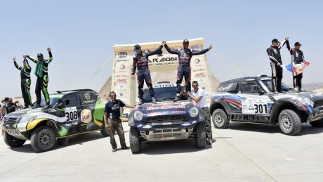 "Nasser Al Attiyah (QAT – Mini): ""... It was a nice and fast stage. I love this rally, and love to come back to Egypt, and of course love to win...."