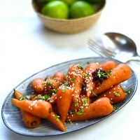 sweet and sour glazed carrots
