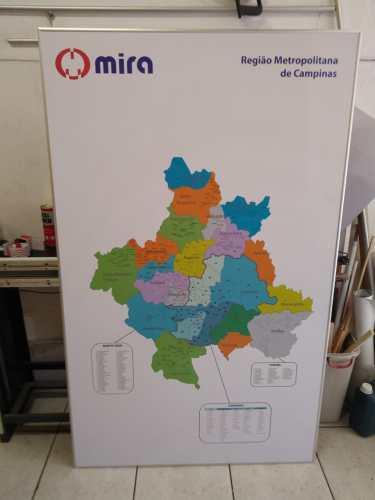 Mapa Bairros Região Metropolitana Campinas - Painel Laminado